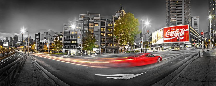 Sydney Photograph - Red Lights Sydney Nights by Az Jackson