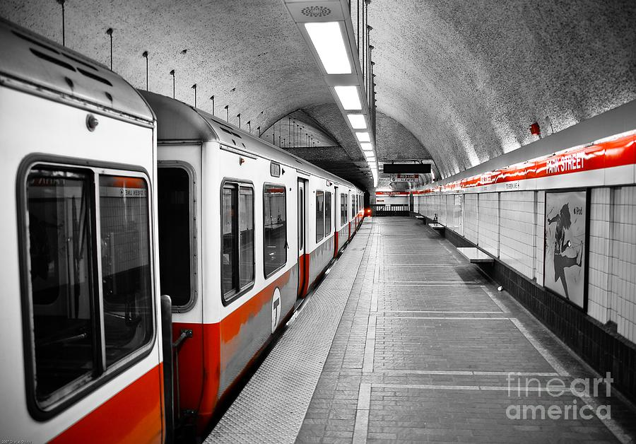 Red Photograph - Red Line by Charles Dobbs