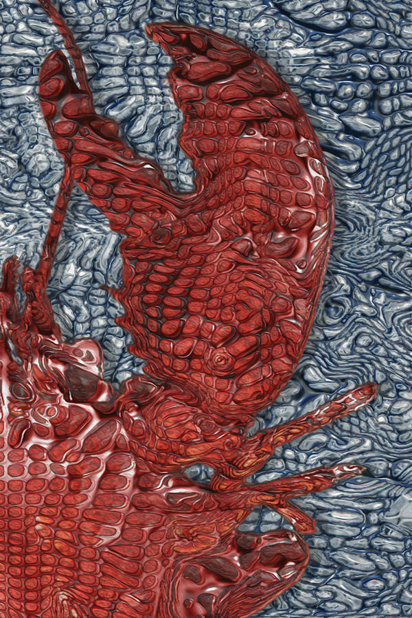 Clawed Painting - Red Lobster by Jack Zulli