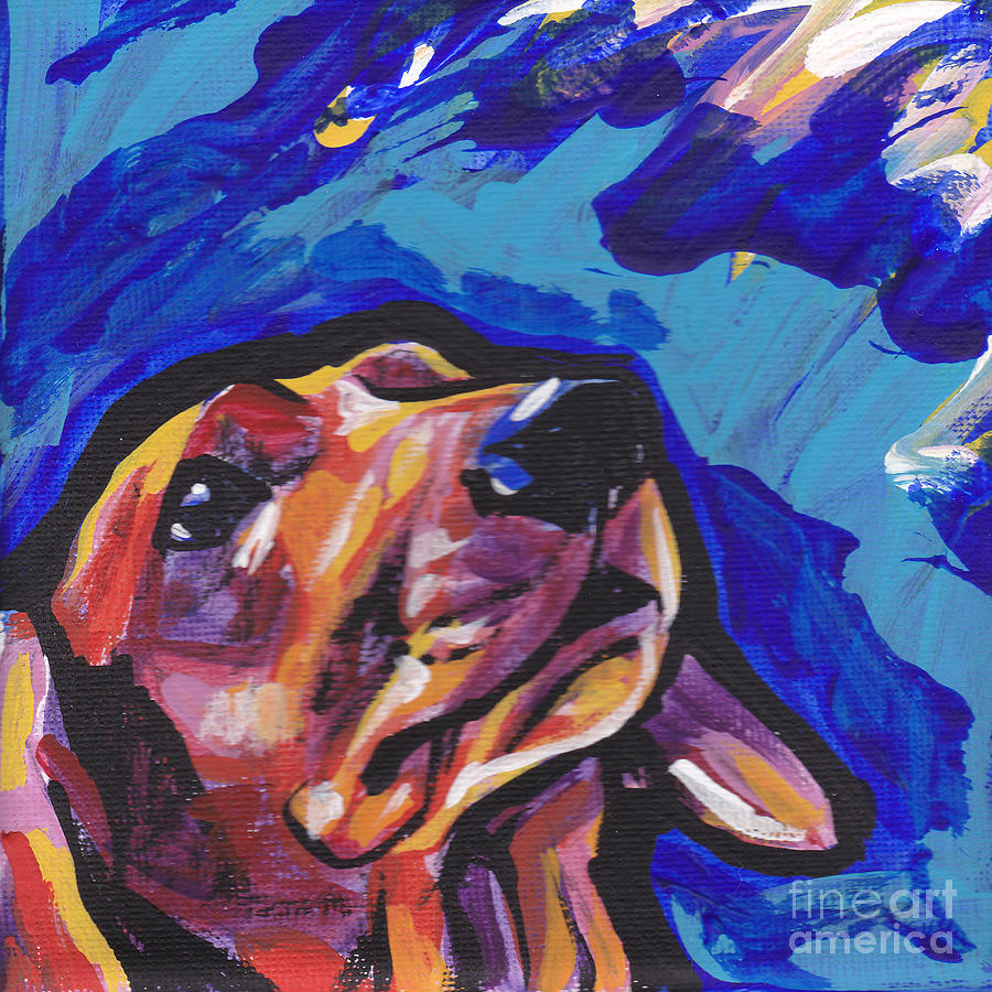 Dachshund Painting - Red Long And Strong by Lea S