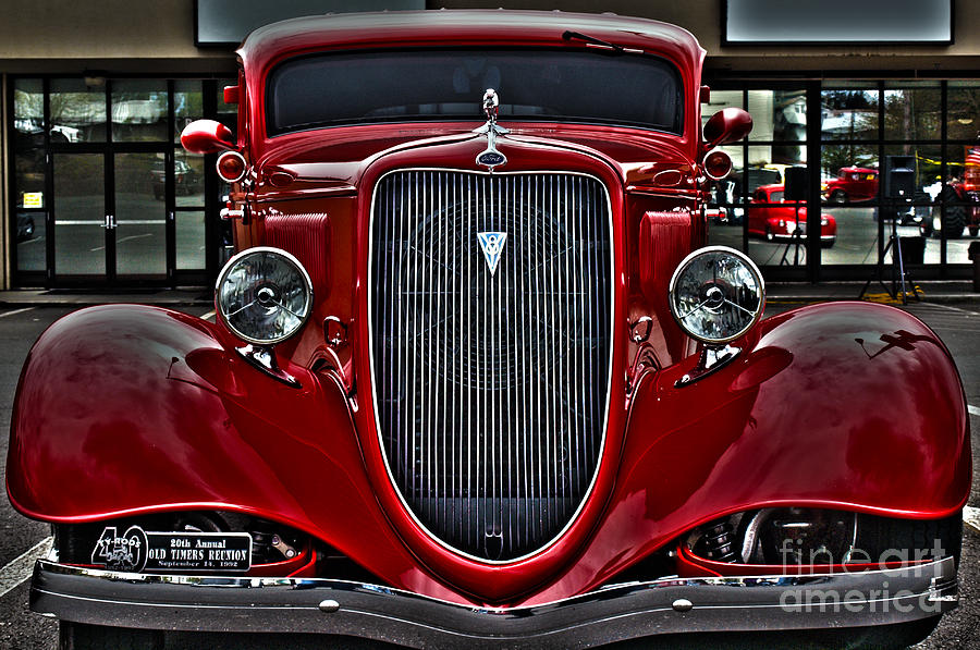 Car Digital Art - Red Lust by Christian Jansen