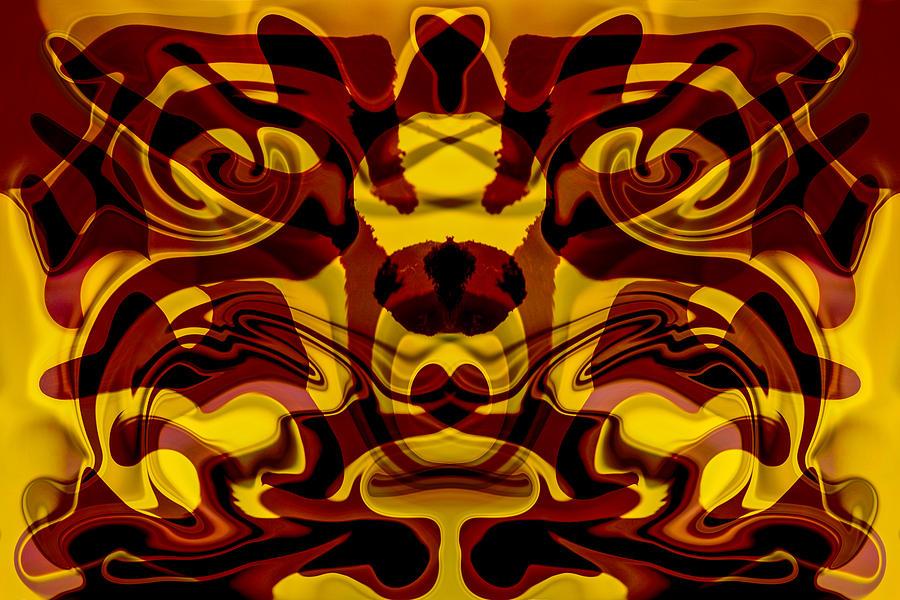 Twisp Painting - Red Mask by Omaste Witkowski