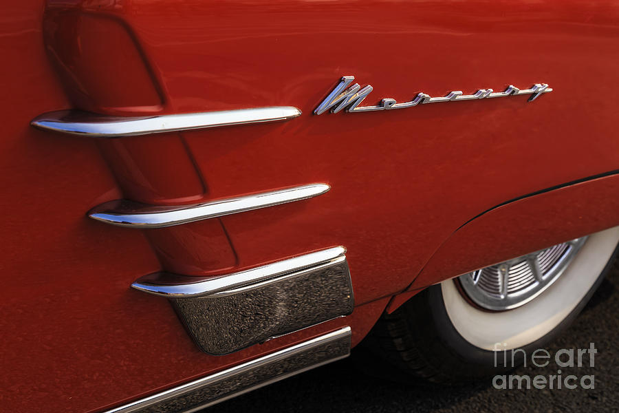 1953 Mercury Photograph - Red Merc by Dennis Hedberg