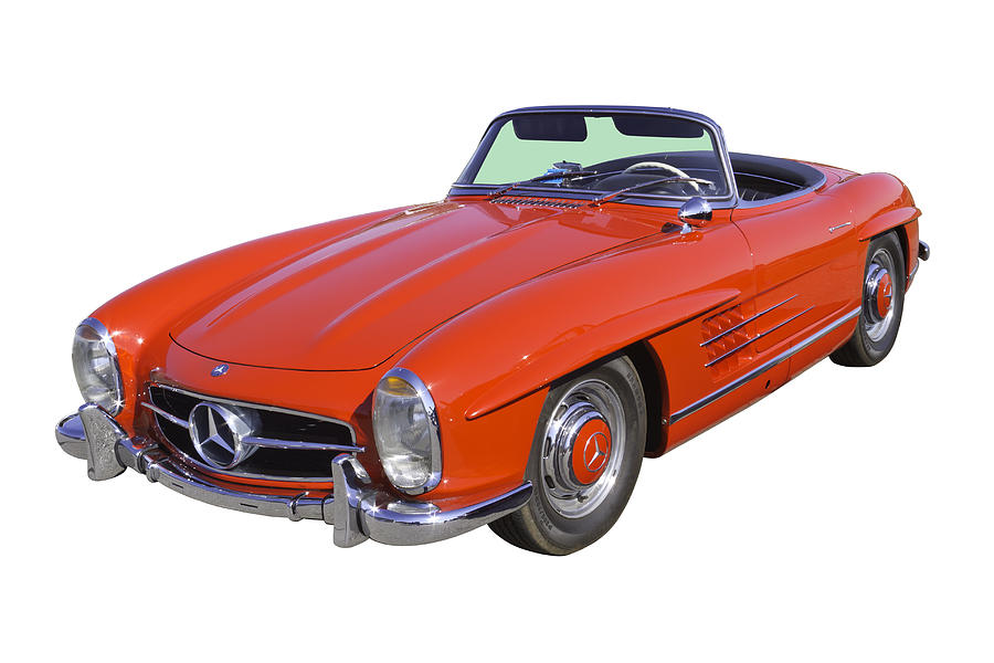 Red mercedes benz 300 sl convertible photograph by keith for Mercedes benz red convertible