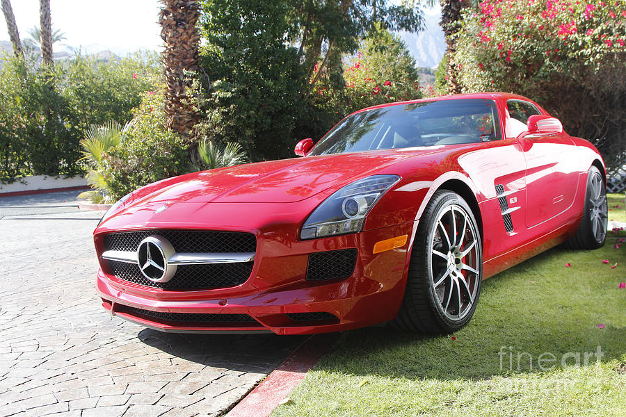 Red Photograph - Red Mercedes Benz by Nina Prommer