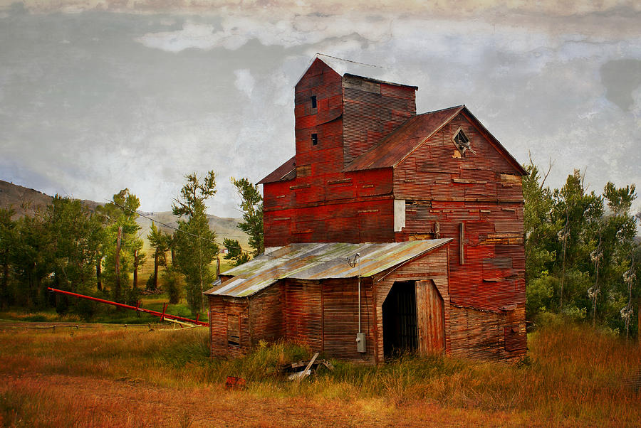 Historic Building Photograph - Red Mill Montana by Marty Koch