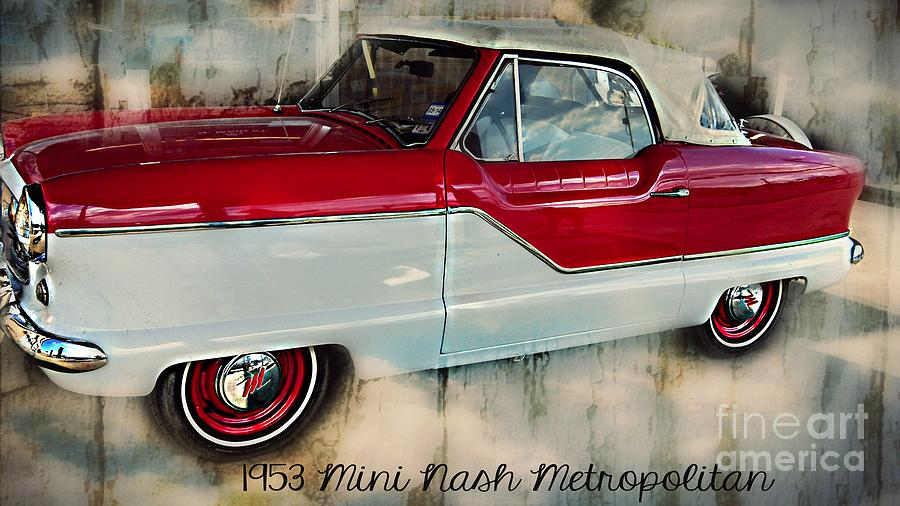 Vintage Cars Photograph - Red Mini Nash Vintage Car by Peggy Franz