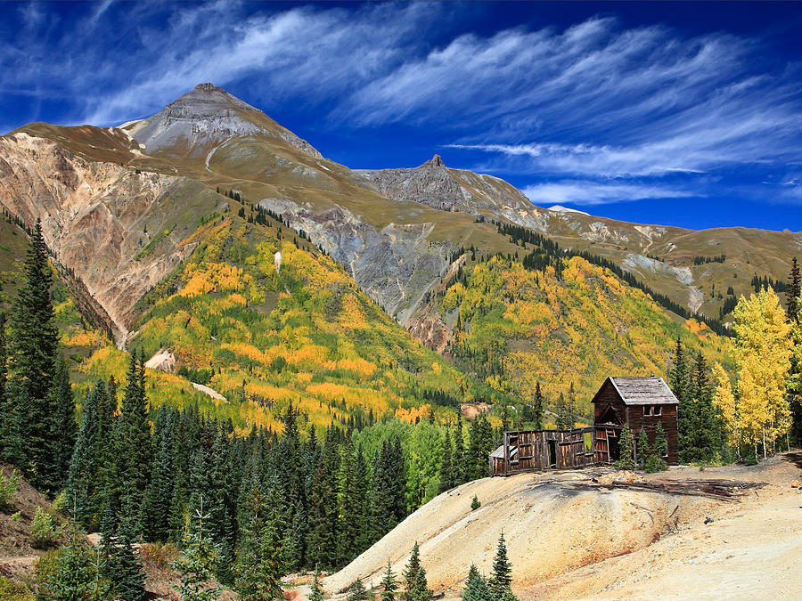 Ouray Photograph - Red Mountain Mine by Robert Yone