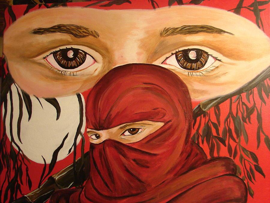 Red Painting - Red Ninja by Lorinda Fore
