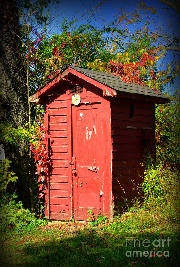 Outhouse Photograph - Red Outhouse by Paul Ward