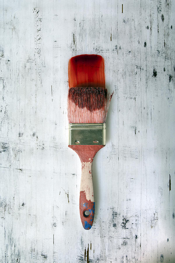 Brush Photograph - Red Paint by Joana Kruse