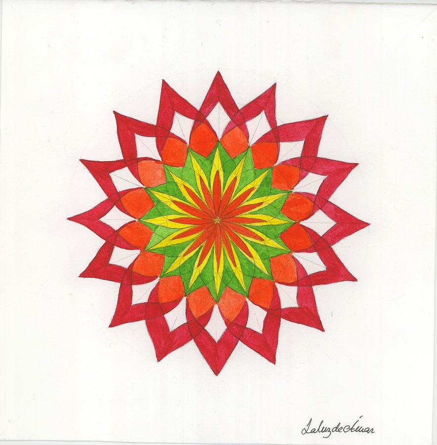 Mandala Painting - Red Passion Mandala by Silvia Justo Fernandez
