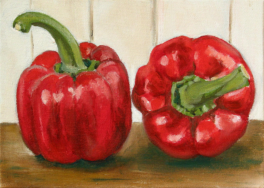 Food Painting - Red Pepper by Sarah Lynch