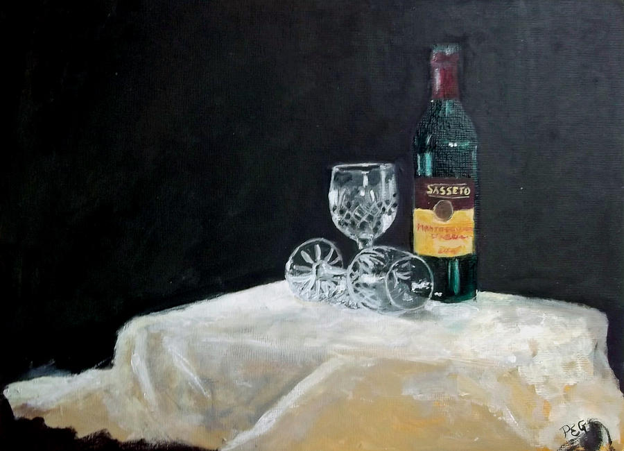 Still Life Painting - Red by Peter Edward Green