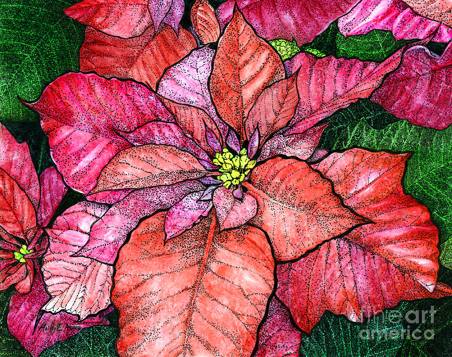 Red Poinsettias II Painting