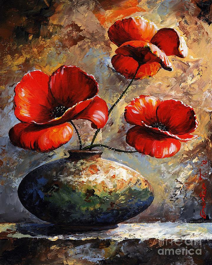 Red Poppies 02 Painting By Emerico Imre Toth