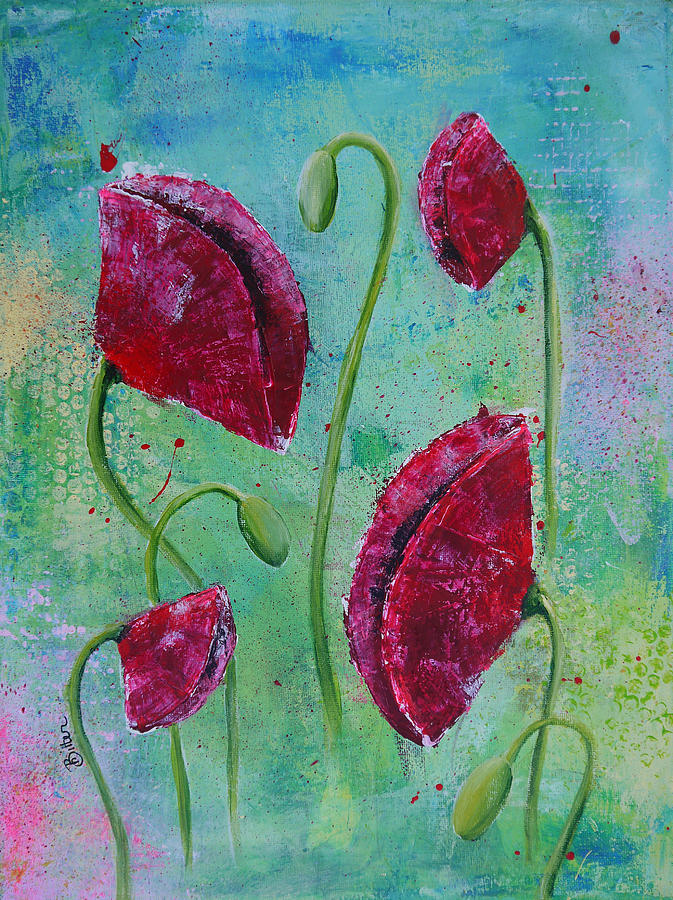 Red Poppies Painting - Red Poppies by Bitten Kari