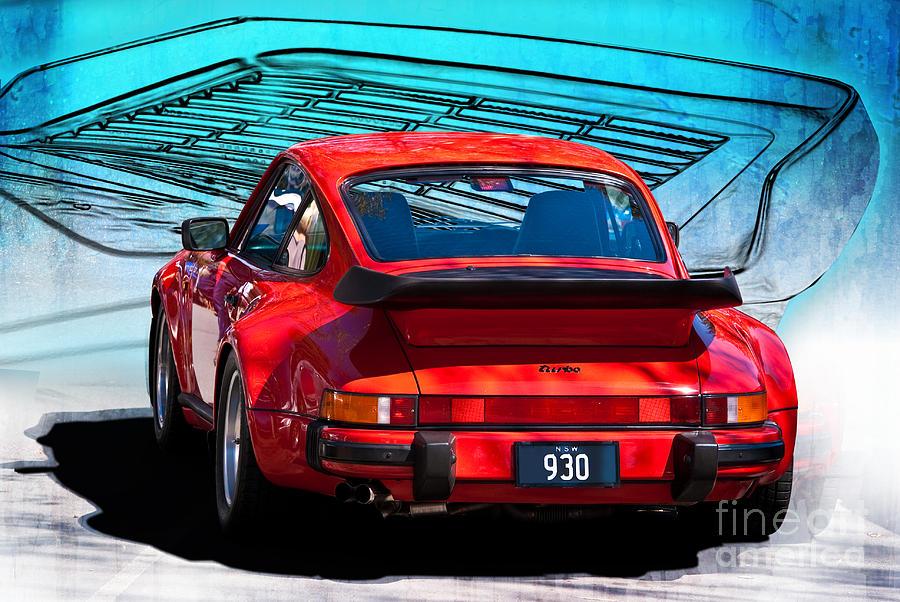 Red Porsche 930 Turbo Photograph By Stuart Row