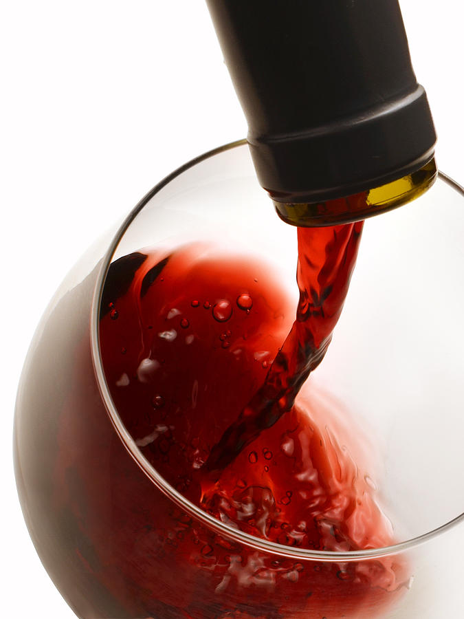 Wine Photograph - Red Pour by Dennis James