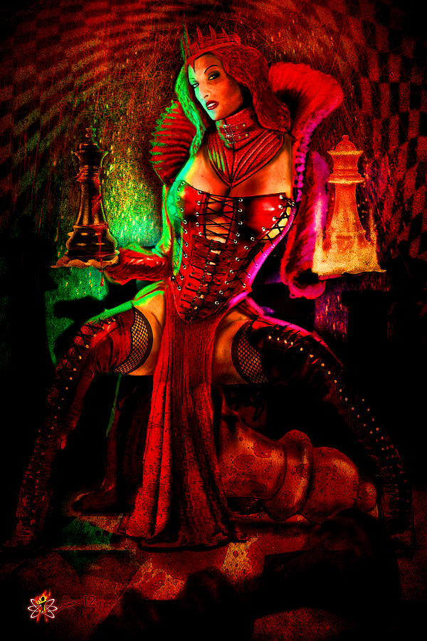 Red Queen Digital Art by Doug Schramm