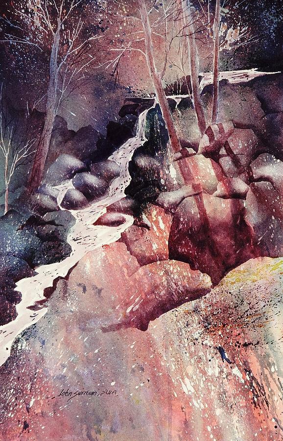 John Svenson Painting - Red Ravine  by John  Svenson