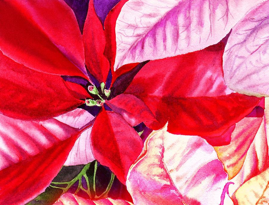 Red Painting - Red Red Christmas by Irina Sztukowski