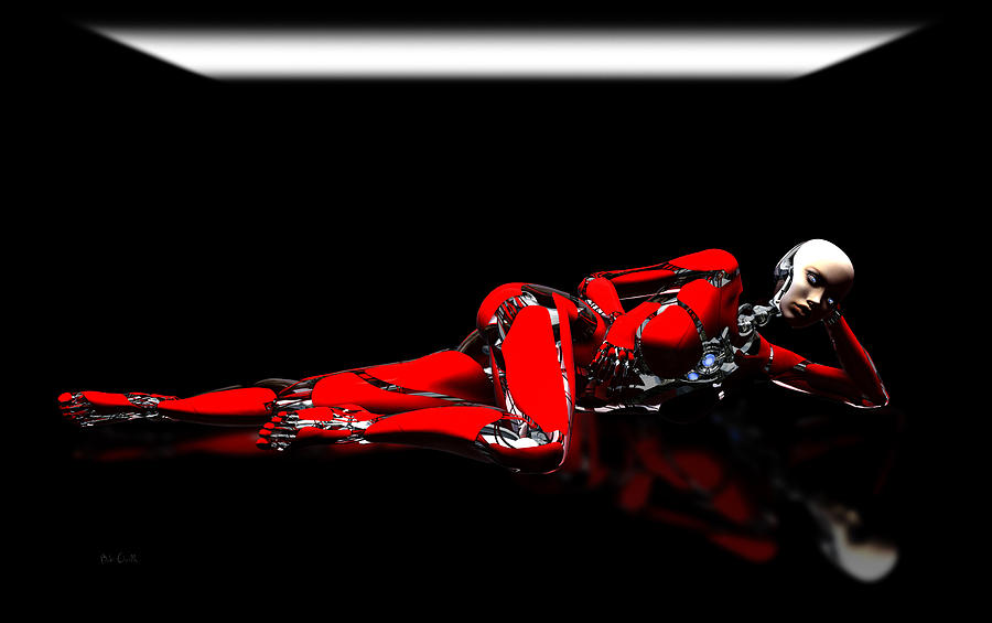 Android Digital Art - Red Reflection by Bob Orsillo