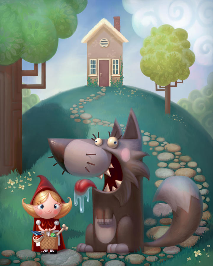 Red Riding Hood Painting - Red Riding Hood by Adam Ford