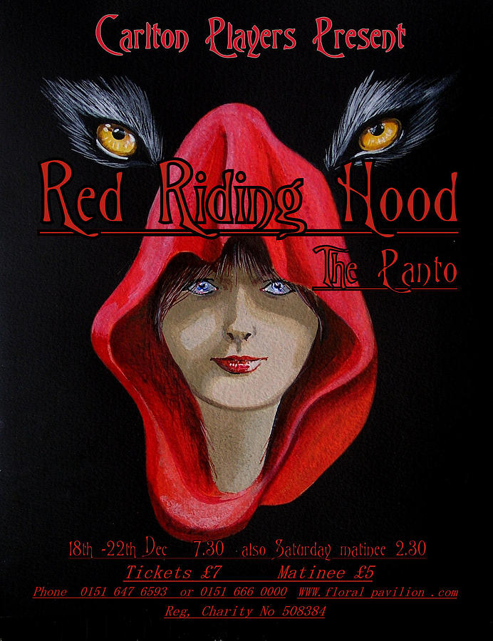 Poster Painting - Red Riding Hood by Steve Jones