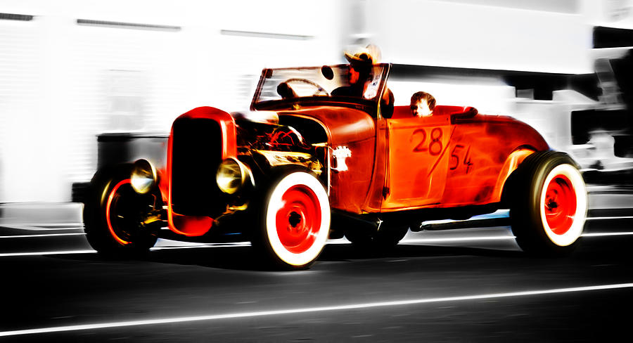 Ford Hot Rod Photograph - Red Riding Rod by Phil motography Clark
