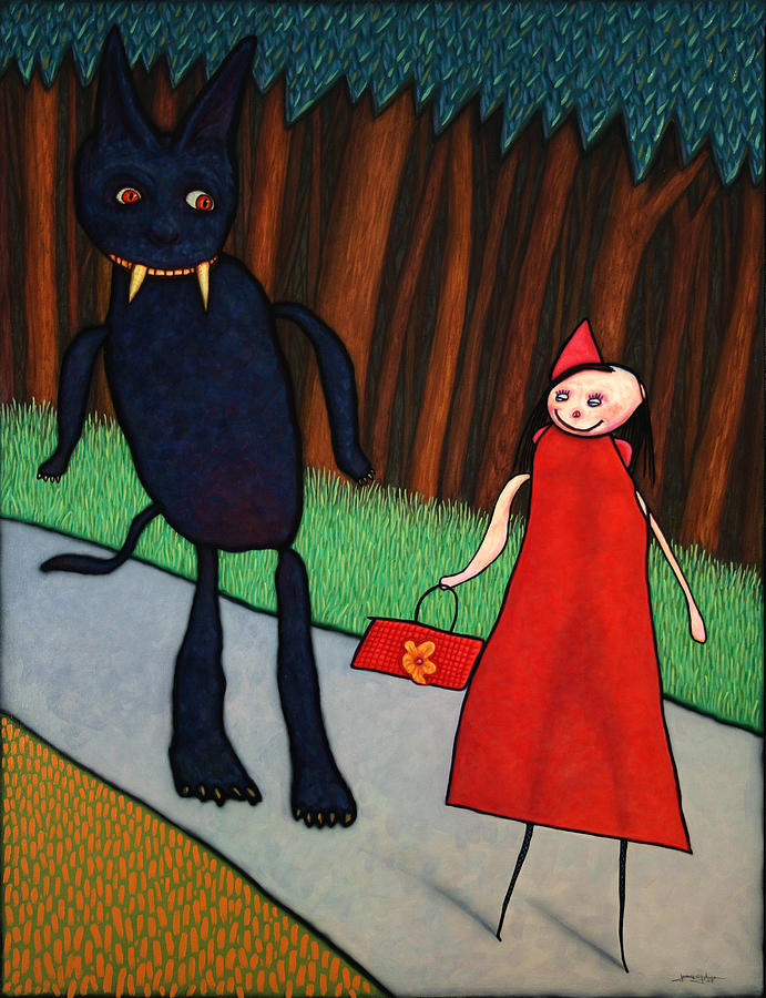 Little Red Ridinghood Painting - Red Ridinghood by James W Johnson