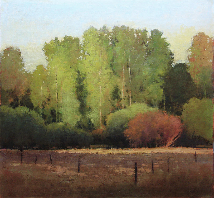 Red River Brush Painting by Shanna Kunz