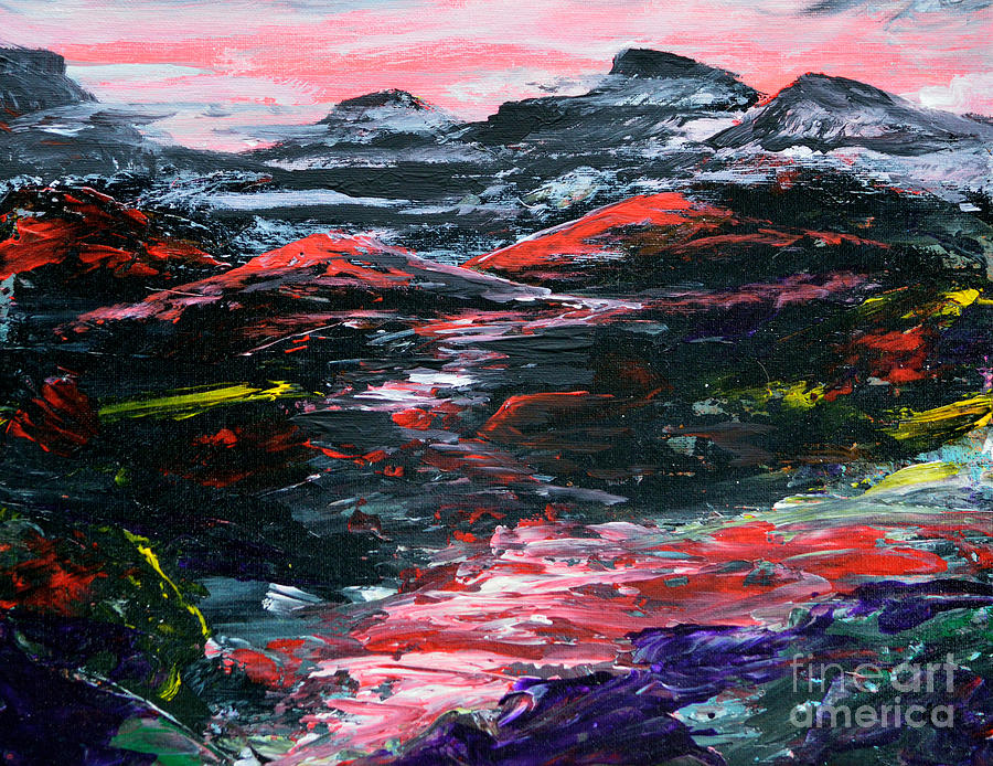 Abstract Painting - Red River Valley by Alys Caviness-Gober