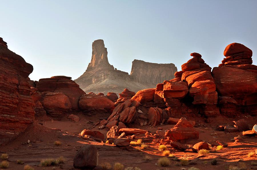 Landscape Photograph - Red Rock And Spire by Marty Koch