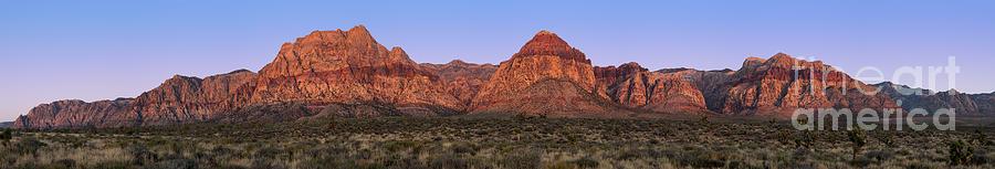 America Photograph - Red Rock Canyon Pano by Jane Rix