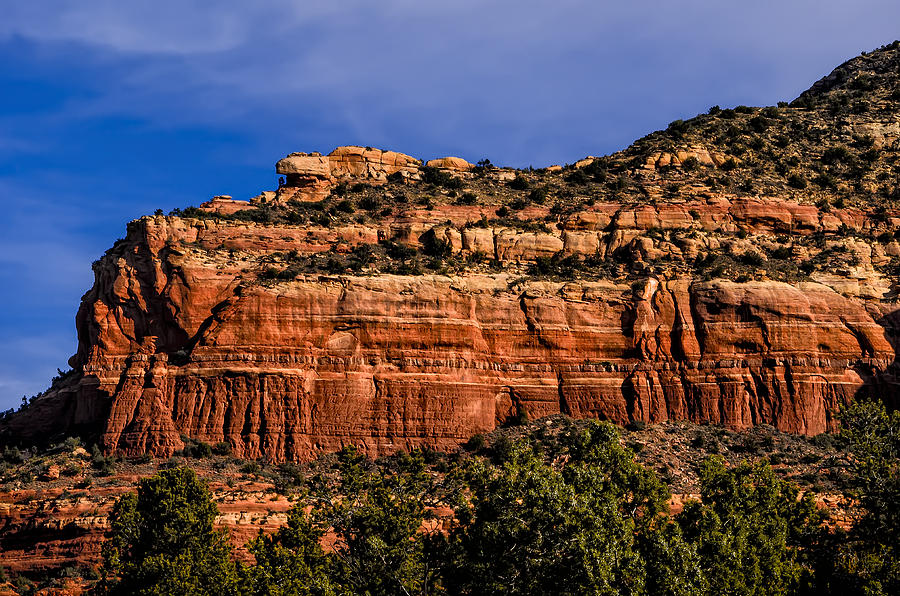 Red Rock Crag Photograph