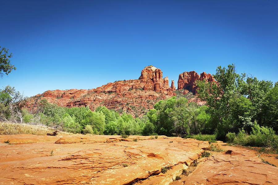 Red Rock Crossing Cathedral Rocks Photograph by Yinyang