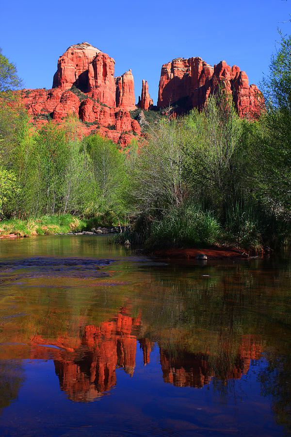 Sedona Photograph - Red Rock Crossing Reflections by Laurie Larson
