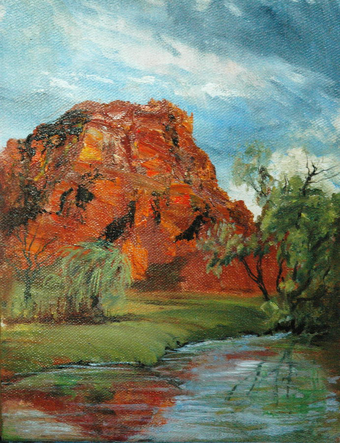 Red Rock Painting by Jolyn Kuhn