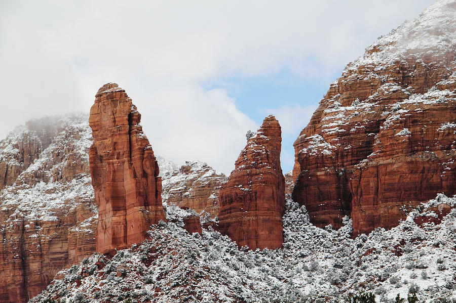 Red Rock Snow Sedona Photograph by Sassy1902
