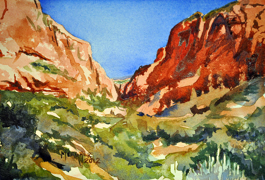 Red Rock Painting - Red Rock Summer by Spencer Meagher