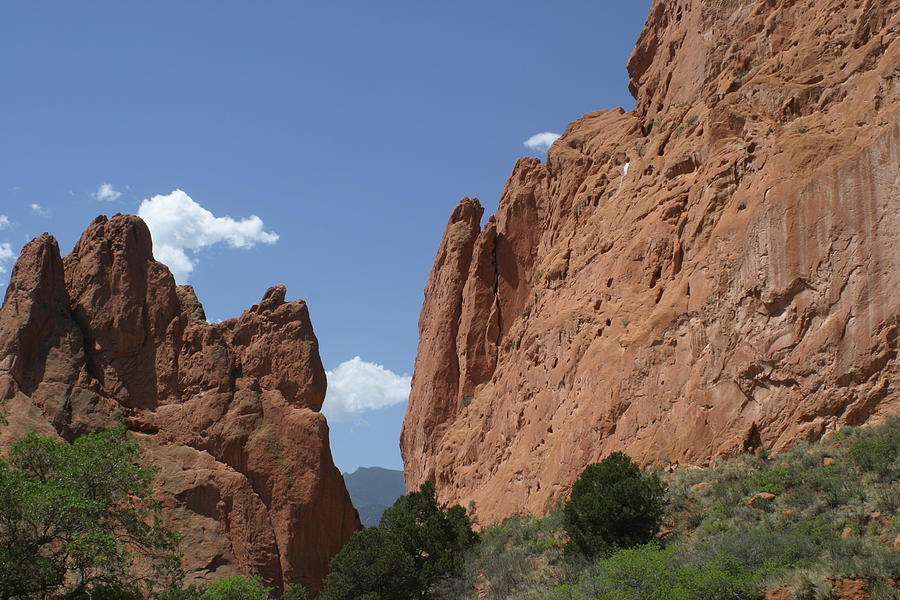 Red Rock Wall Photograph