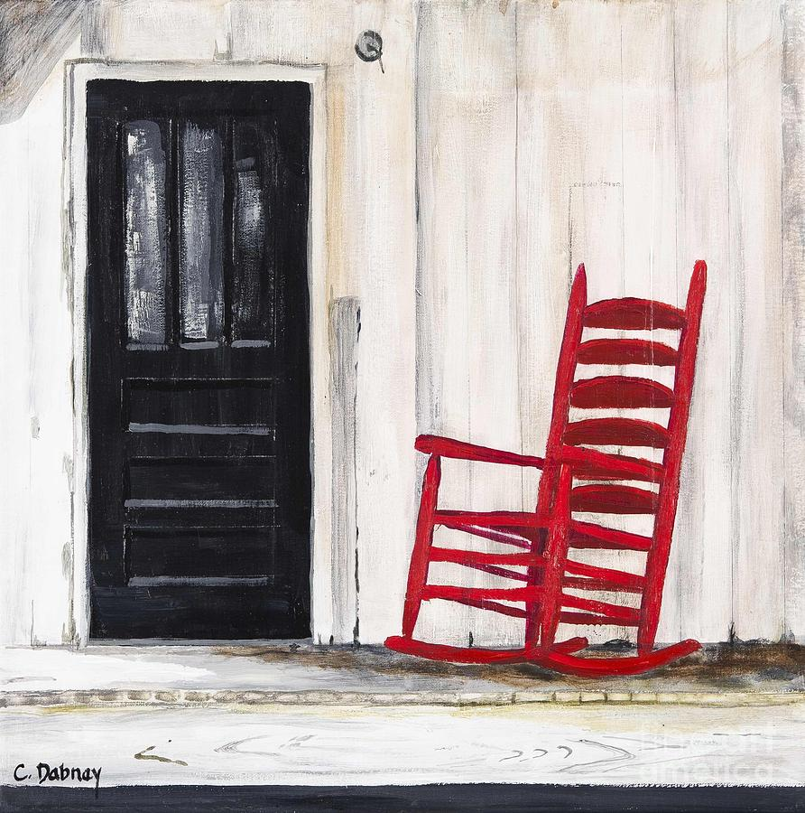 Old Painting - Red Rocker by Carla Dabney