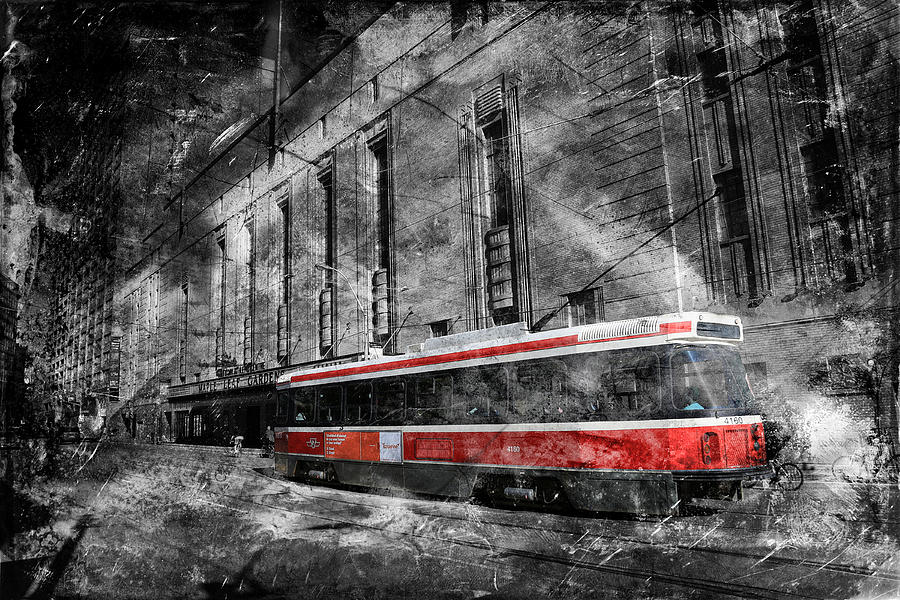 Trolley Photograph - Red Rocket 23d by Andrew Fare
