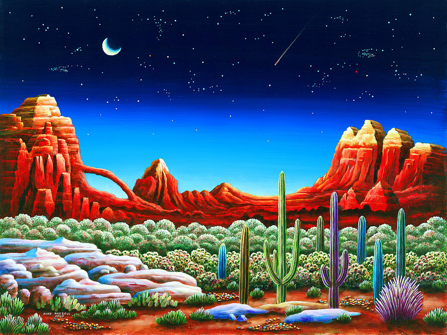 Painting Painting - Red Rocks 5 by MGL Meiklejohn Graphics Licensing