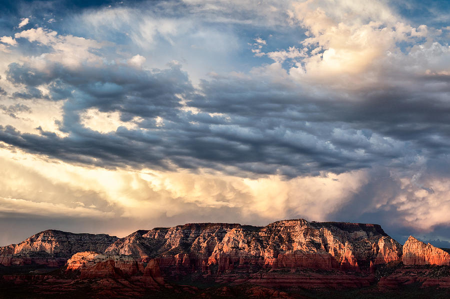 Landscape Photograph - Red Rocks Of Sedona by Dave Bowman