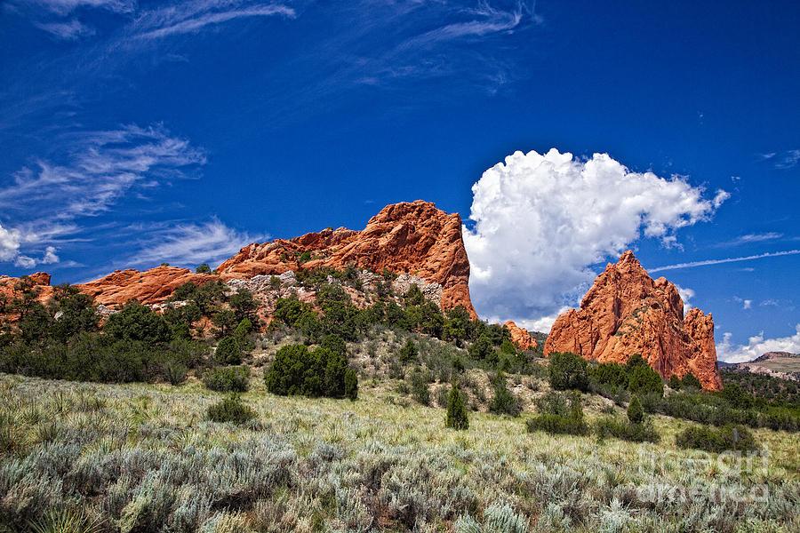 Colorado Photograph - Red Rocks In Colorado by Timothy Hacker