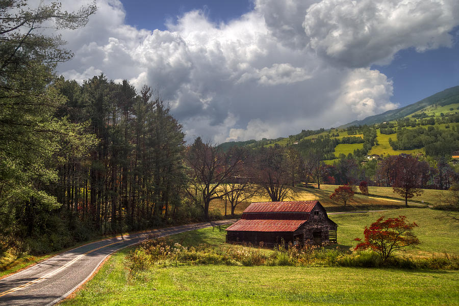 Appalachia Photograph - Red Roof Barn by Debra and Dave Vanderlaan
