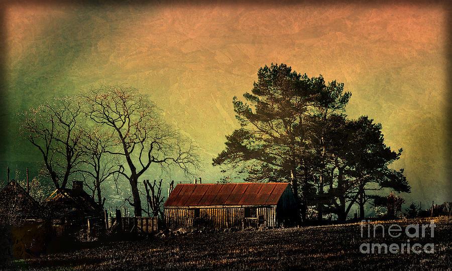 Landscape Photograph - Red Roof Landscape by Liz  Alderdice