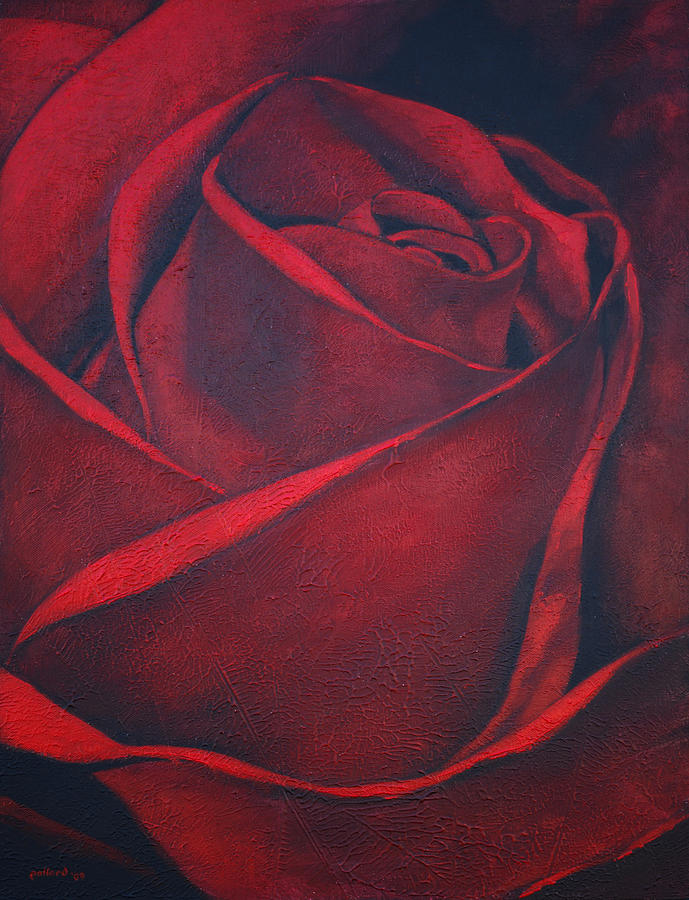 Rose Painting - Red Rose by Glenn Pollard